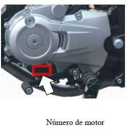 Posición del número de motor